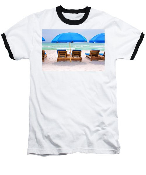 Panama City Beach Digital Painting Baseball T-Shirt