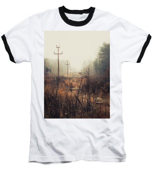 Walking The Lines Baseball T-Shirt by Jessica Brawley