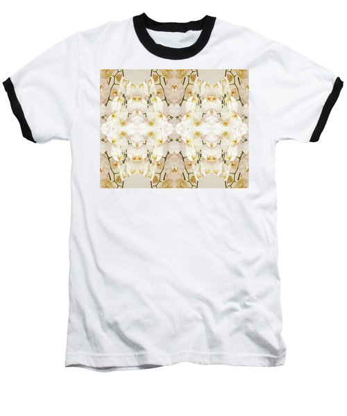 Wall Of Orchids II Baseball T-Shirt by Paul Ashby