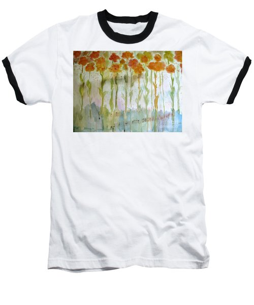 Baseball T-Shirt featuring the painting Waltz Of The Flowers by Sandy McIntire