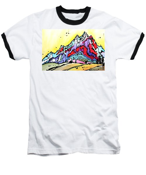 Baseball T-Shirt featuring the painting Waning Seasons In The Tetons by Nicole Gaitan