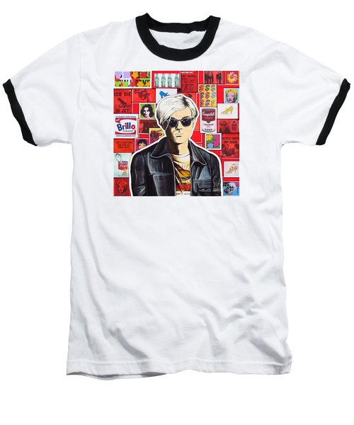 Baseball T-Shirt featuring the mixed media Warhol by Joseph Sonday