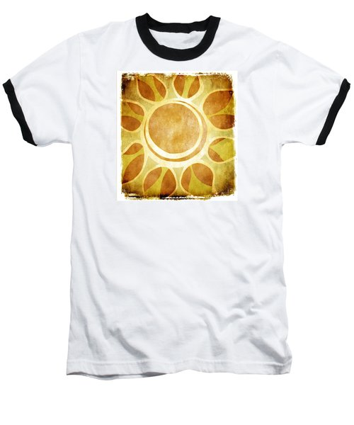 Warm Sunny Flower Baseball T-Shirt by Lenny Carter