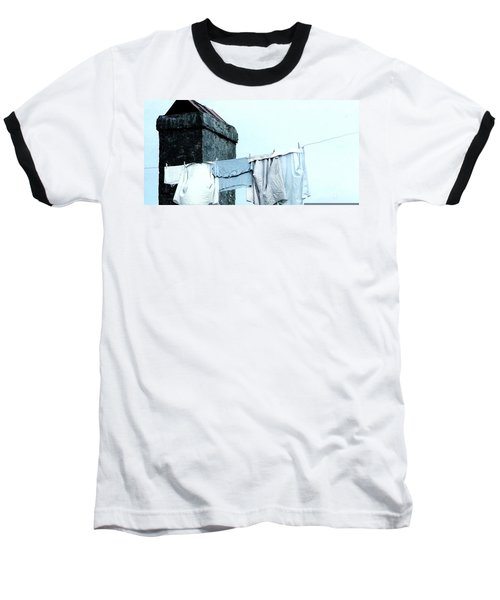 Baseball T-Shirt featuring the photograph Wash Day Blues In New Orleans Louisiana by Michael Hoard