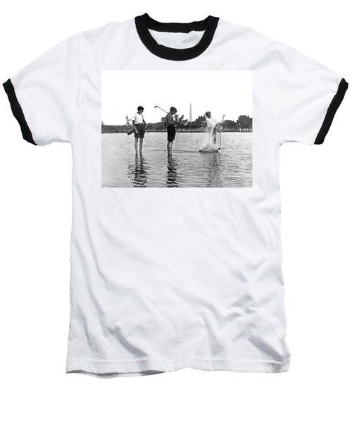 Water Hazard On Golf Course Baseball T-Shirt