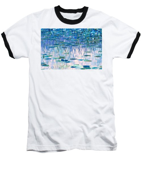 Water Lilies Baseball T-Shirt