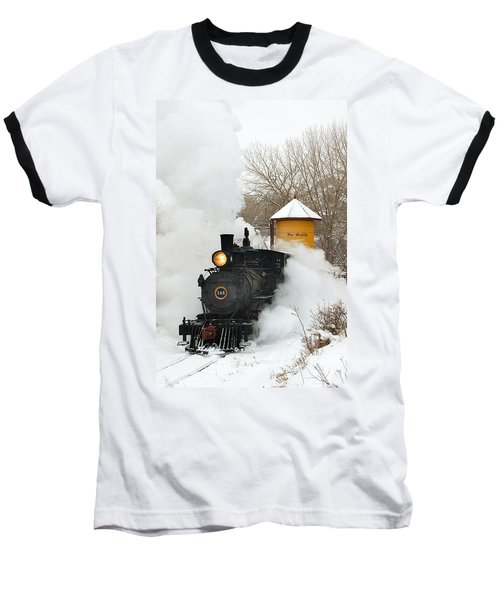 Water Tower Behind The Steam Baseball T-Shirt