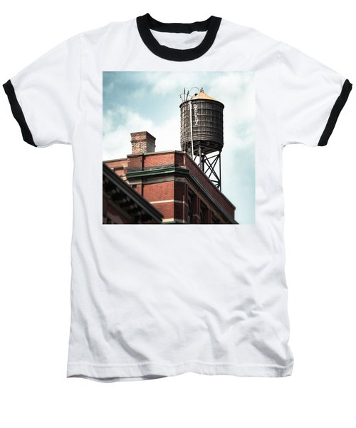 Water Tower In New York City - New York Water Tower 13 Baseball T-Shirt