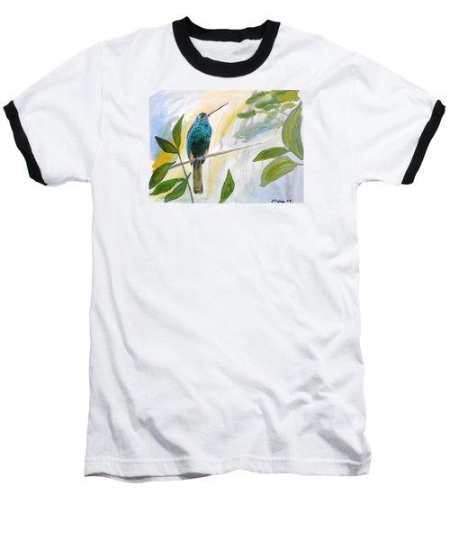 Watercolor - Jacamar In The Rainforest Baseball T-Shirt
