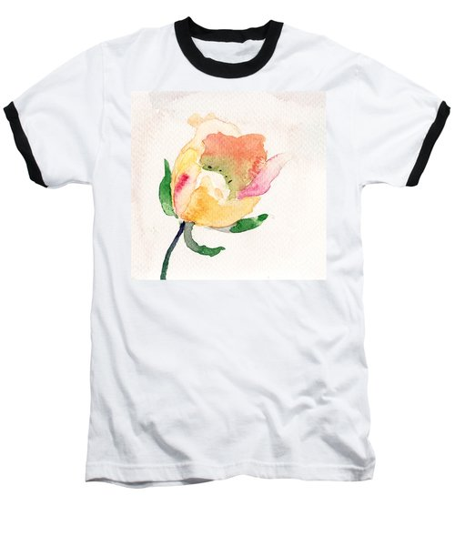Watercolor Illustration With Beautiful Flower  Baseball T-Shirt