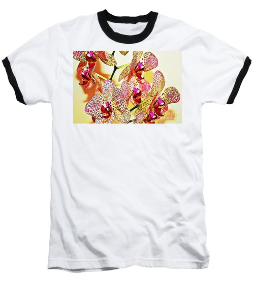 Baseball T-Shirt featuring the photograph Watercolor Orchid Shadows by Judy Palkimas