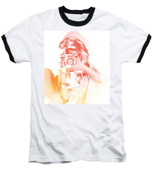 Watercolor Shoot Baseball T-Shirt