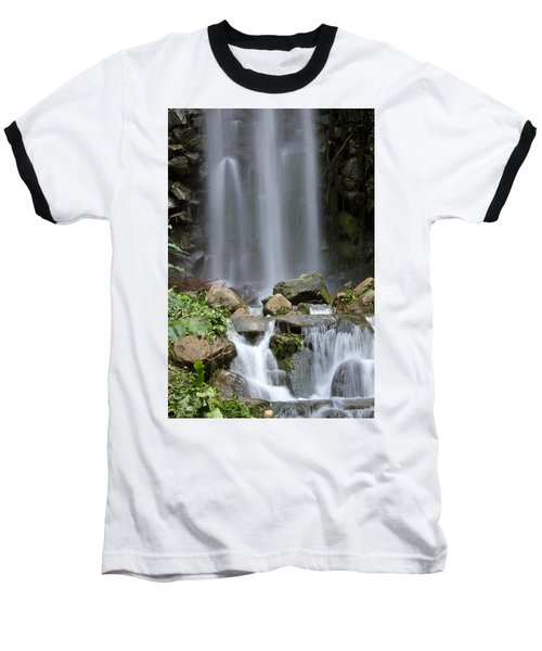 Baseball T-Shirt featuring the photograph Waterfall In Singapore by Shoal Hollingsworth