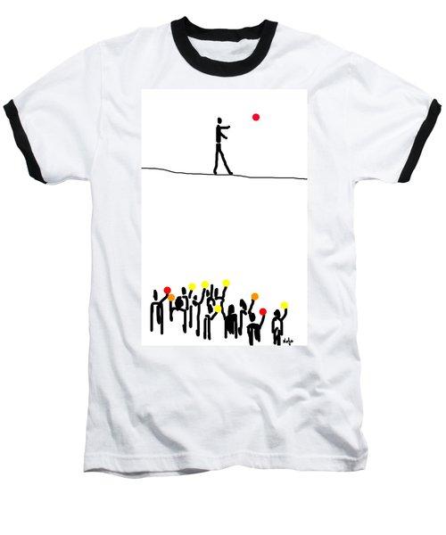 We Believe In Circles  Baseball T-Shirt by Sladjana Lazarevic