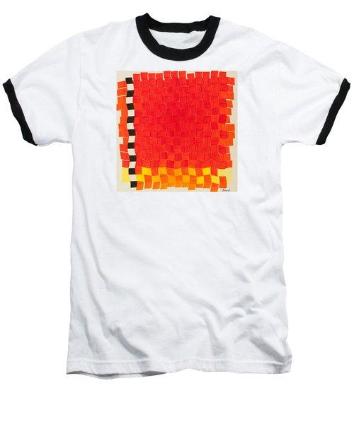 Weave #2 Sunset Weave Baseball T-Shirt by Thomas Gronowski