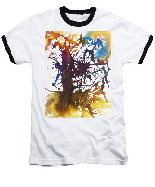 Web Of Life Baseball T-Shirt by Ellen Levinson