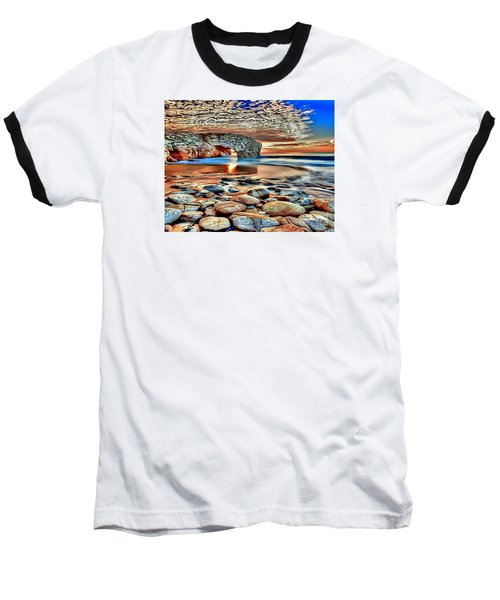 Weighed In Stone Baseball T-Shirt by Catherine Lott