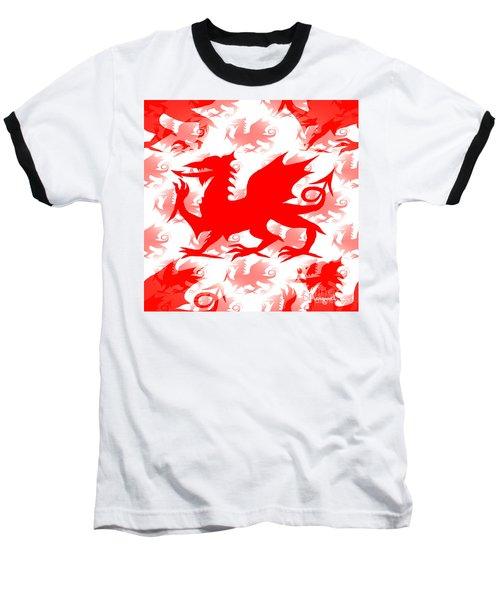 Welsh Dragon Baseball T-Shirt