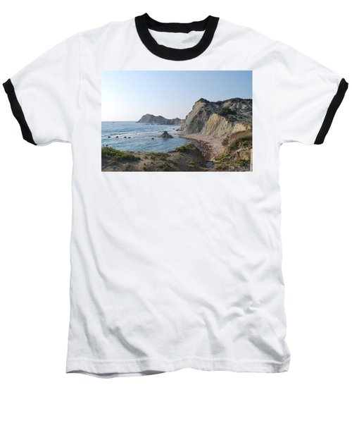 West Erikousa 1 Baseball T-Shirt by George Katechis