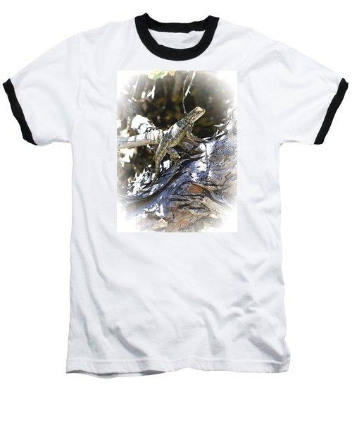Western Fence Lizard Aka Blue-belly Lizard Baseball T-Shirt