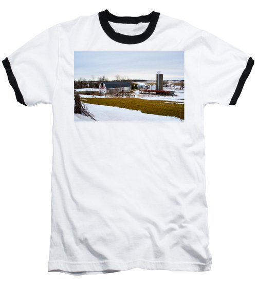 Western New York Farm As An Oil Painting Baseball T-Shirt