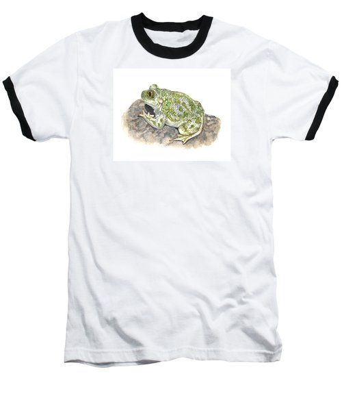 Western Spadefoot Baseball T-Shirt by Cindy Hitchcock