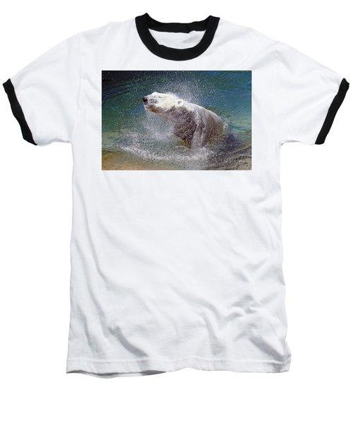 Wet Polar Bear Baseball T-Shirt