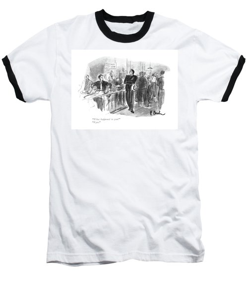 What Happened To You?  Eyes Baseball T-Shirt