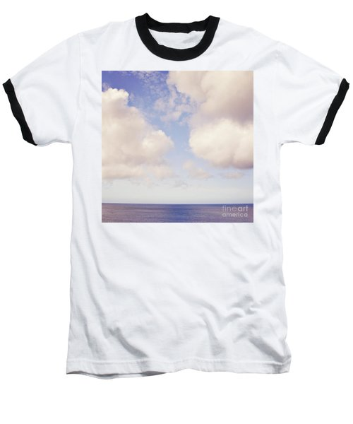 When Clouds Meet The Sea Baseball T-Shirt