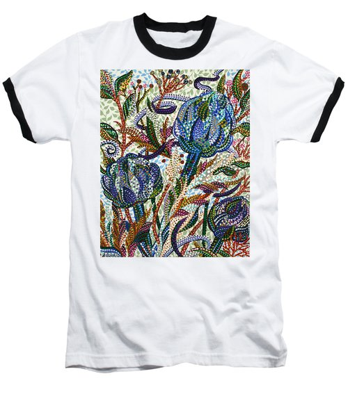Where Clover Grows Baseball T-Shirt by Erika Pochybova