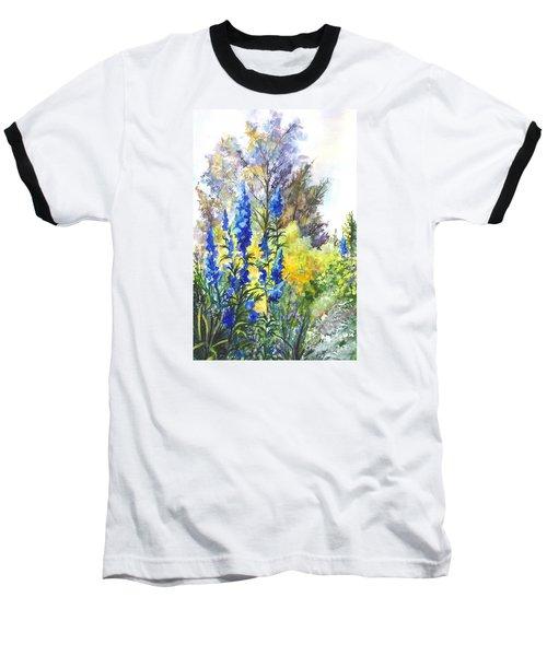Where The Delphinium Blooms Baseball T-Shirt by Carol Wisniewski