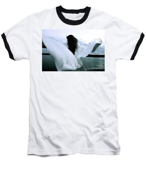 White Angel Baseball T-Shirt