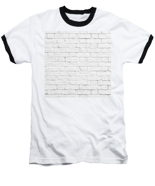 White Brick Wall Baseball T-Shirt