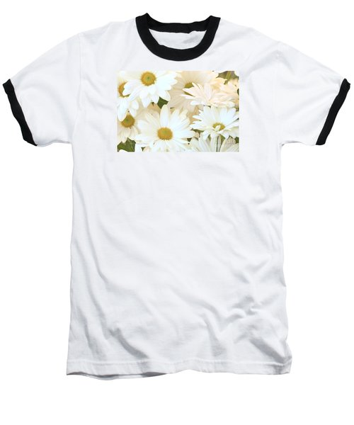 White Chrysanthemums Baseball T-Shirt