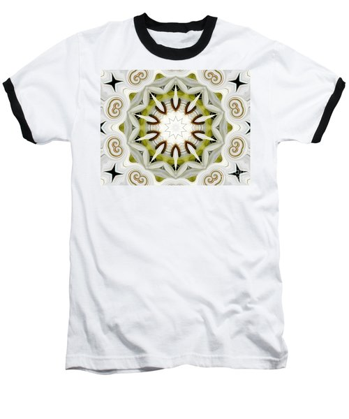 Baseball T-Shirt featuring the photograph White Daisies Kaleidoscope by Rose Santuci-Sofranko