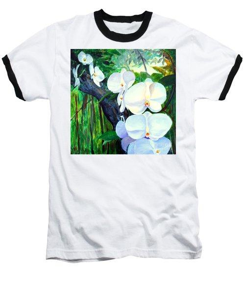 White Orchid's Baseball T-Shirt