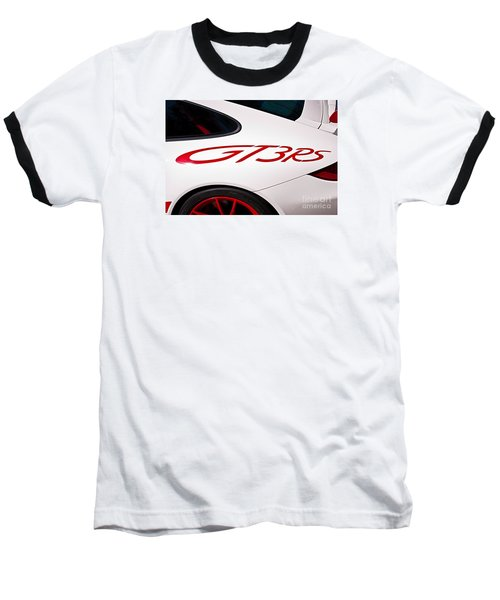White Porsche Gt3rs - Rear Quarter Baseball T-Shirt