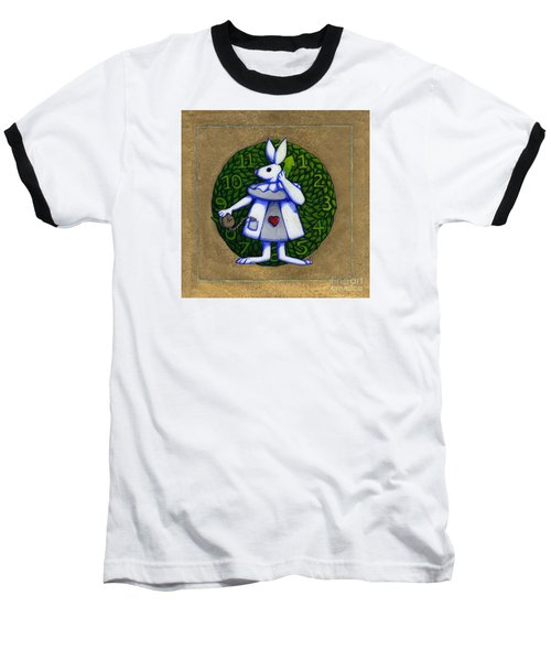 White Rabbit Wonderland Baseball T-Shirt