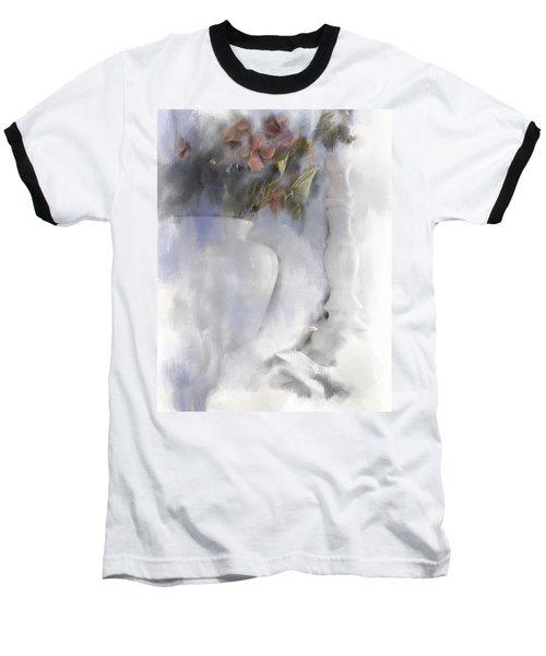 White Still Life Vase And Candlestick Baseball T-Shirt