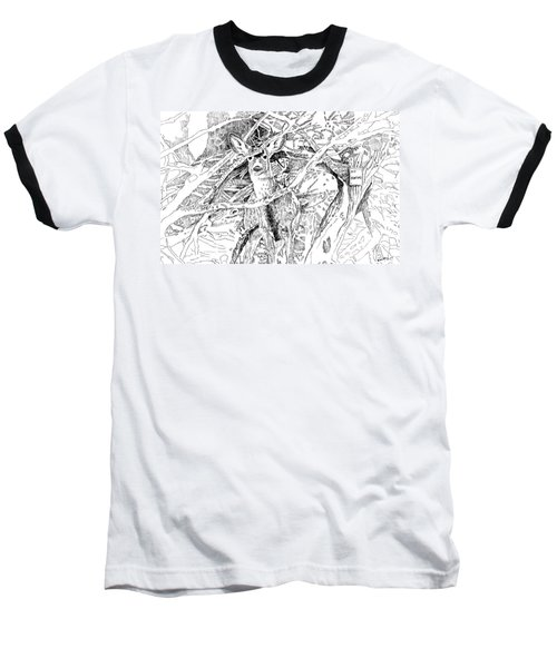 White-tail Encounter Baseball T-Shirt