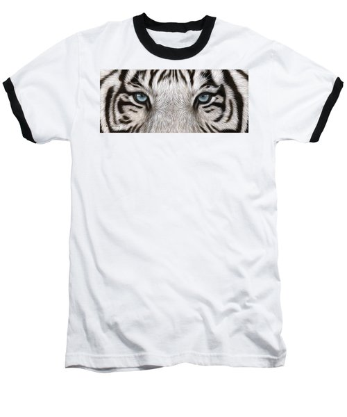White Tiger Eyes Painting Baseball T-Shirt