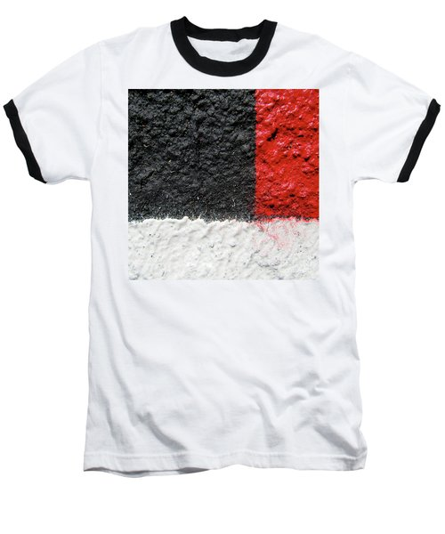 Baseball T-Shirt featuring the photograph White Versus Black Over Red by CML Brown
