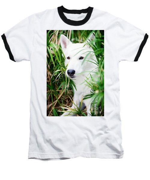 Baseball T-Shirt featuring the photograph White Wolf by Erika Weber