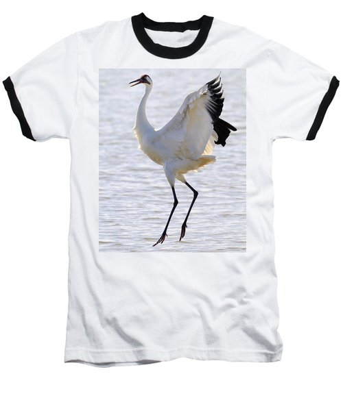 Whooping Crane - Whooping It Up Baseball T-Shirt