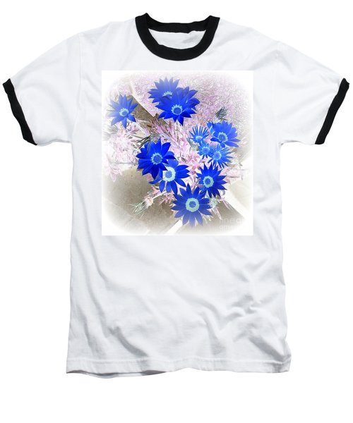 Wild Blue Baseball T-Shirt by Kenneth Clarke