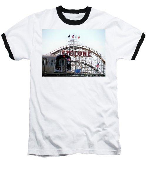 Baseball T-Shirt featuring the photograph Wild Rides by Ed Weidman