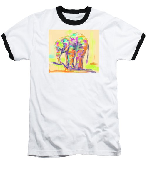 Wildlife Baby Elephant Baseball T-Shirt
