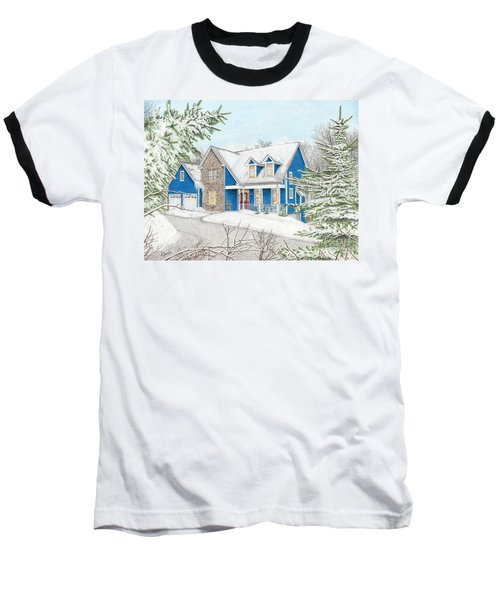 Baseball T-Shirt featuring the painting Wiley House by Albert Puskaric