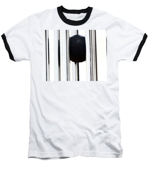 Wind Chime In Black And White Baseball T-Shirt
