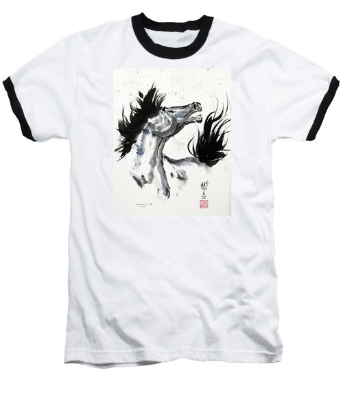 Baseball T-Shirt featuring the painting Wind Fire by Bill Searle